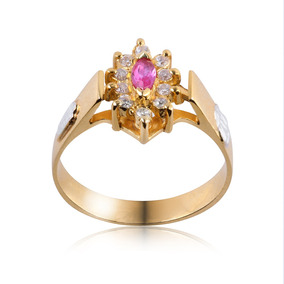 Anel De Formatura Ouro Com Diamante 10 Pontos Ag042