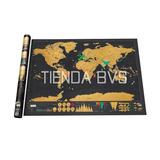 Mapa Mundial Scratch Map Personalizable Viajes Poster Mural