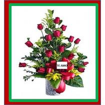 Arreglo De Flores Y Rosas Naturales En Tampico Y Peluche