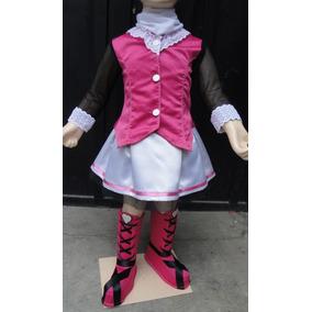 Disfraz Estilo Draculaura Monster High Con Mallas Y Botas!!