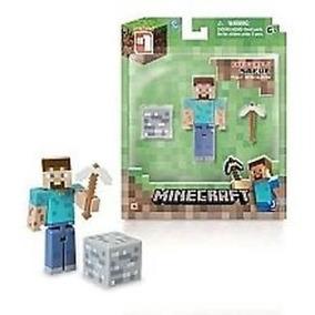 Boneco Steve Minecraft Com Picareta E Bloco Mojang No Brasil