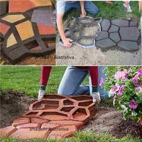 Forma Piso Jardim Calçada C/ Instruçoes Uso Tamanho 42x42x4
