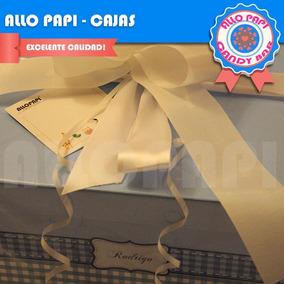 Cajas De Cartón Forradas/ajuar De Bebé Personalizada Regalo