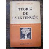 Teoria De La Extension * Hermann Grassmann * Espasa Calpe *
