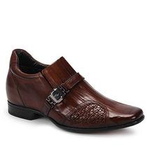 Sapato Social Aumenta Altura Masculino Rafarillo - Marrom