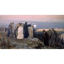Lienzo Tela Cristo Jerusalen Enrique Simonet 1892 50 X 90 Cm