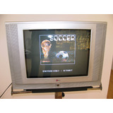 Tv Lg 21pulg,pantalla Plana, Flatron, 15 Juegos, Insuperable