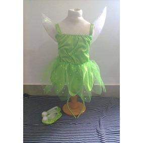 Disfraz Campanita Tinkerbell Con Alas,balerinas Y Vincha!!!