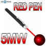 New Red Poderosa Caneta Laser Vermelho Pointer Pen Feixe 5mw