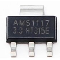 Regulador De Tensão Smd - Ams1117-3,3v - Pac C/ 10unid