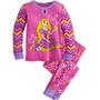 Pijamas De Rapunzel Tangled Disney Para Niñas 2 Piezas