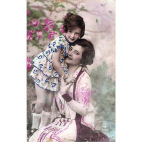 Fotografia Antiga França Mãe E Filha + 2 Meninas Anos 30.