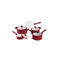Jogo De Panelas Ceramica Fogão Indução 5 Pçs Pa300-5pvm