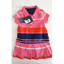 Vestido Polo Tommy Hilfiger Bebê Listrado Original