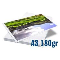 100 Folhas Papel Glossy Fotográfico À Prova D´água 180gr A3