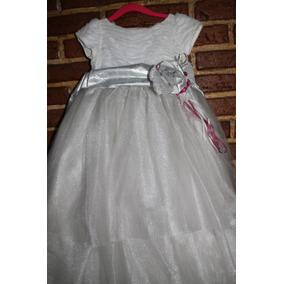 Vestido De Presentación Talla 3 Usado Niña