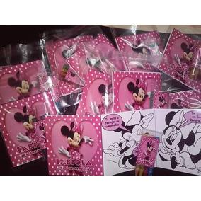 12 Invitaciones Minnie Mouse Para Colorear