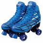 Patins Tradicional Azul C/4 Rodas Roller Skate Fênix Nº36/37
