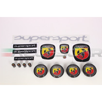 Kit Nº2 Adesivos Abarth Supersport P/ Fiat 500