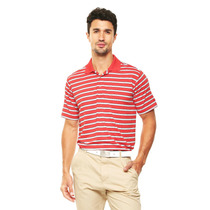 Playera Tipo Polo Caballero 94%pol/6%elast. Racing Red