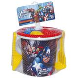 Brinquedo Conjunto De Praia Avengers Com 7 Peças
