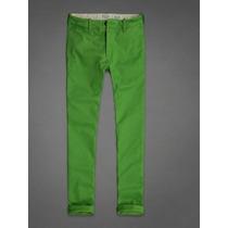 Jeans Verdes Abercrombie & Fitch Hombre Tallas 32 Y 34.