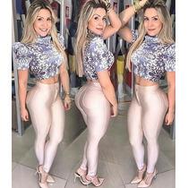 Calça Disco Leg Corino Cirre Diva Sexy Balada