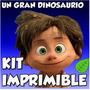 Kit Imprimible Un Gran Dinosaurio Cotillón Para Cumpleaños