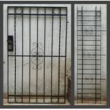 Reja P/frente Hierro C/puerta Cerradura Electrica 6 Llaves