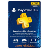 Playstation Plus 12 Meses Usa- Psn Plus - Caja Vecina