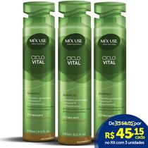 Kit 3un. Shampoo Preventivo Queda Ciclo Vital 240ml- Mix Use