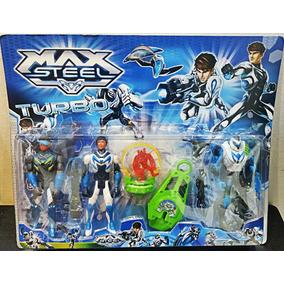 Bonecos Max Steel Turbo Diversos 4 Bonecos + Acessorios