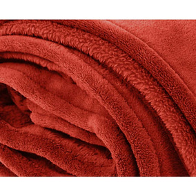 Cobertor Zelo Microfibra Queen - Orange