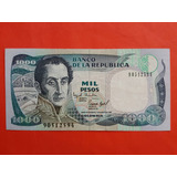 Billete De 1000 Pesos 1995 Colombia.
