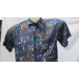 Camisa Imp Seda Fina Robert Stock Multicolor P 111-234