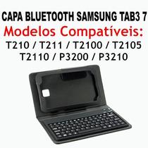 Capa Teclado Bluetooth Case Samsung Galaxy Tab3 7 T210