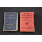 Lote X 2 Diccionarios Miniatura Inglés Castellano Francés