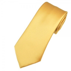 Gravata Dourada Semi Slim Casamentos, Debutantes, Uniformes