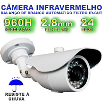 Camera Infra Metal Externa 960h Ahd-l Lente 2.8mm Ir Cut Blc