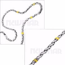 Cadena Plata Y Oro+ Pulsera Plata Y Oro-largo A Elección H2