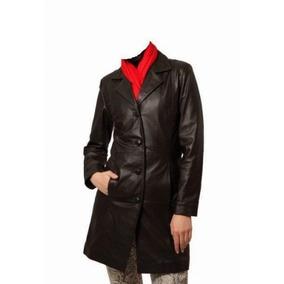 Casaco Trench Coat Couro Legítimo Bovino Brinde Calça Luxo