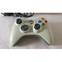 Controle Xbox 360 E Pc Branco Com Fio Original Microsoft