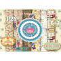 Kit Imprimible Papeles Collage Vintage Decoupage Frascos Tag