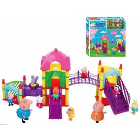 Família Peppa Pig No Parque + 4 Amigos Pronta Entrega