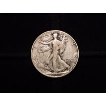 Moneda 1/2 Dolar Liberty 1944 Eeuu 12,5 Plata 900 Half Medio