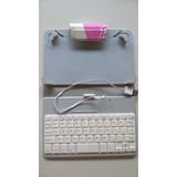 Capa Dura Barbie Tablet 7 Pol. C/ Teclado Usb