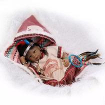 Boneca Bebê Reborn Índia Pronta Entrega Fotos Reais