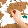 Mapa Mundi Raspar Vinilo Planisferio Vinilo 58 X 88 Viajero