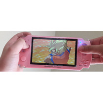 Consola Portatil Psp Emulador Rosa Snes Gba Gbc 1200 Juegos