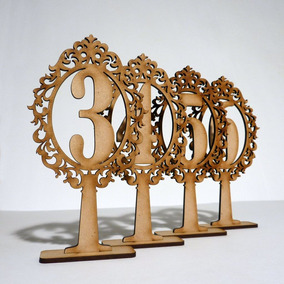 Numero Mesa Fibrofacil 8cm X 15cm X Unidad